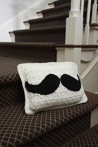 Ravelry: Mustache Pillow pattern by Michele Wilcox