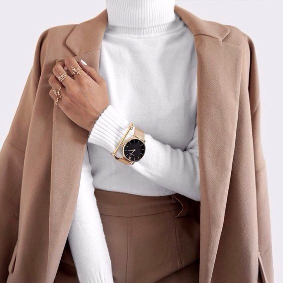Turtleneck   Coat   Autumn   Fall outfit    Inspiration   More on Fashionchick