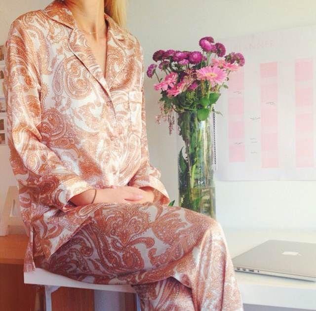 Adriana from Golden Hour Girl Wearing the Gingerlilly Belinda set for Gingerlilly Pyjama Day!