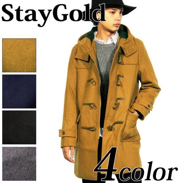 ダッフルコート メンズ メルトン ダッフルコート ウール ロングコート スリム :win710:Stay Gold - 通販 - Yahoo!ショッピング
