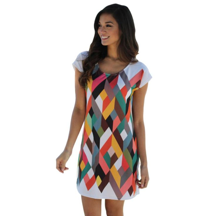 7,10 EUR, inkl. Versand: Casual Women Summer Dress 2016 New Women Sexy Mini Dress Polyester O neck Short Sleeve Office Dresses,robe femme, vestidos-in Dresses from Women's Clothing & Accessories on Aliexpress.com | Alibaba Group
