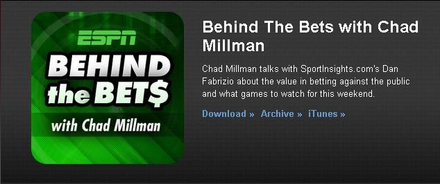"""Sports Insights President Daniel Fabrizio on #ESPN """"Behind The Bets"""" Podcast"""