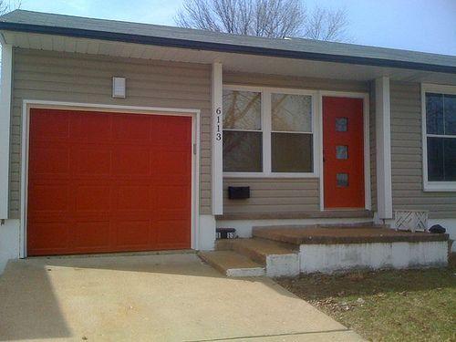 Steve Helvey St Louis Dealer Garage Doors Garage Door Design Red Garage Door