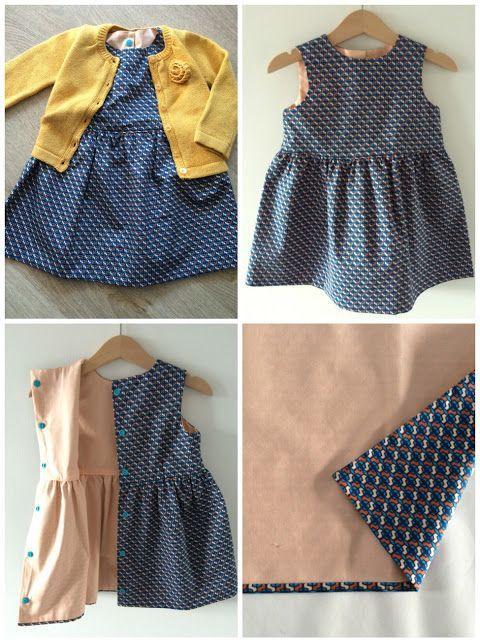 Grace-jurk van Emma en Mona - Gratis patroon+tutorial (maten 62 t.e.m. 92)
