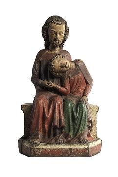 Christus und Johannes (ca. 1350, Liebieghaus, Frankfurt)