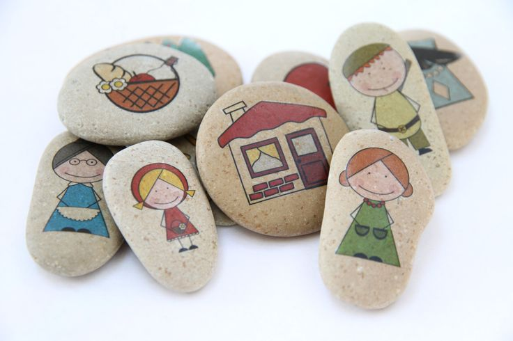 STORY STONES Little Red Riding Hood Story Stones por DOLITTLECRAFTS