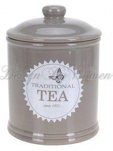 PRZECENA Pojemnik TEA ceramiczny BIA�Y