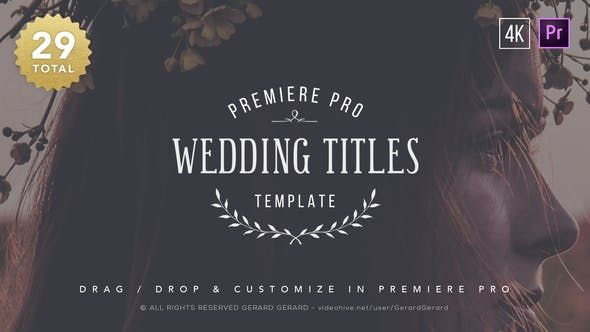 Wedding Titles Premiere Pro Wedding Titles Premiere Pro Graphic Design Wedding Invitations