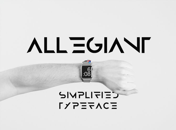 Fresh Free Font Of The Day : Allegiant