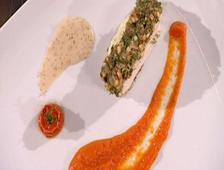 Reteta Adelina Nidelea: Piept de pui umplut cu branza de capra, sos de cafea si piure de ardei - www.Foodstory.ro