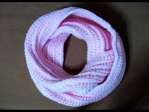 Πλεκτος Λαιμος No3 / Crochet Knit-like Infinity Scarf (english subs)