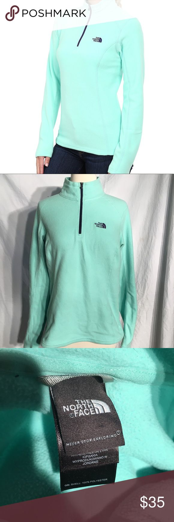 🦄 The North Face green glacier 1/4 zip up Great condition The North Face Glacier 1/4 zip up pull over jacket  THIS ITEM IS NOT PART OF SALE!   Offers are welcome! The North Face Sweaters