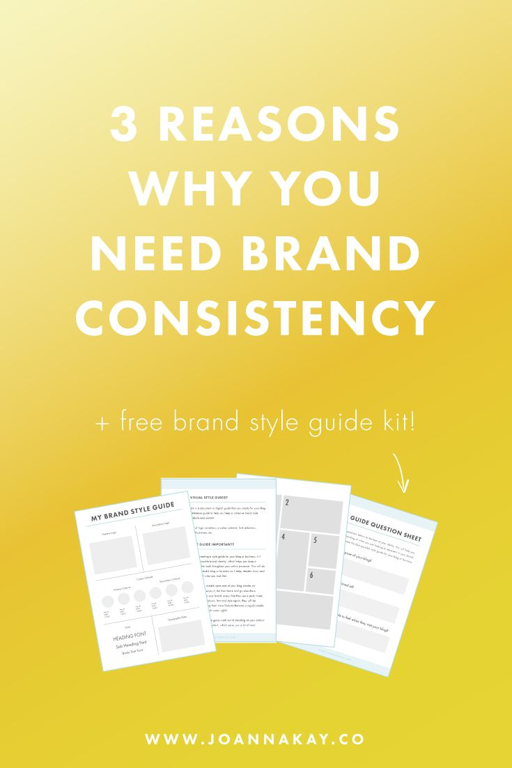 3 Reasons Why You Need Brand Consistency + Free Brand Style Guide Kit