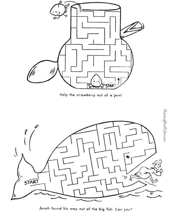 Printable mazes for kids!