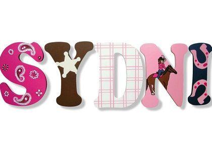 Vaquera Western letras Letras Letras de por CuteBoutiqueLetters