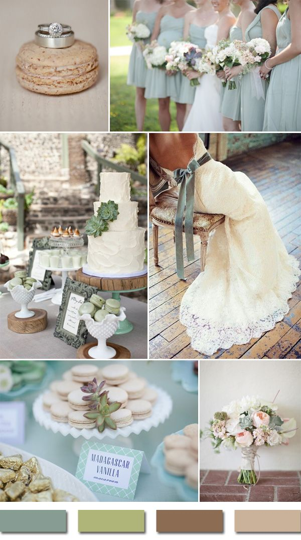 sage and brown sandalwood wedding colors for 2015 trending rustic wedding ideas #elegantweddinginvites
