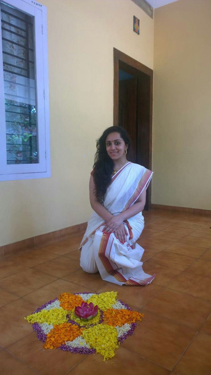 Girl In Kerala Saree During Onam  Indian Girls In Real -2270