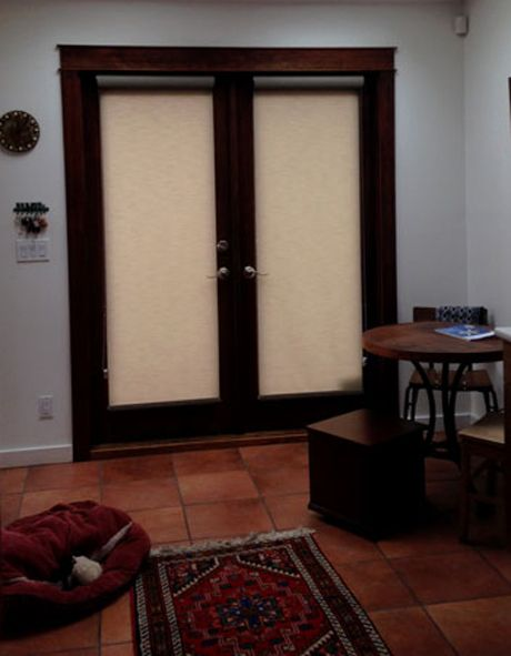 Roller Shades For French Doors With Hold Down Brackets