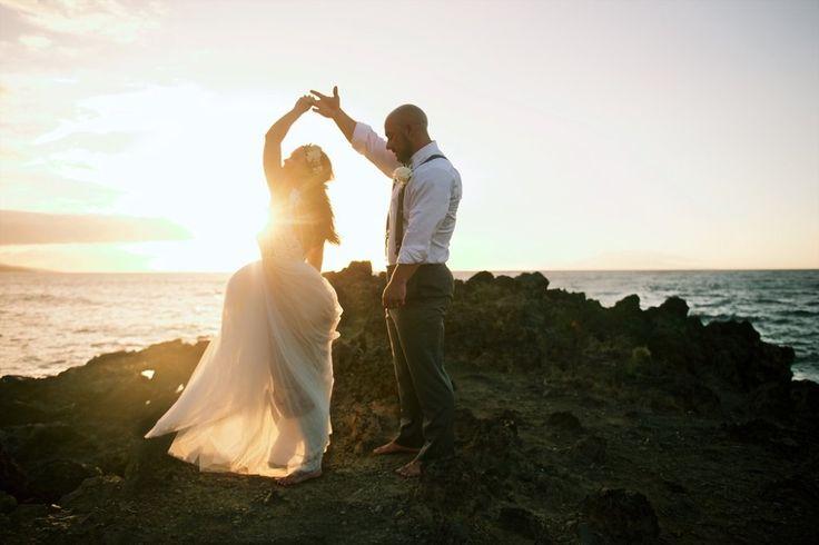 Sunset dreamy outdoor wedding // bride and groom // Bliss Wedding Design // Anna Kim Photography