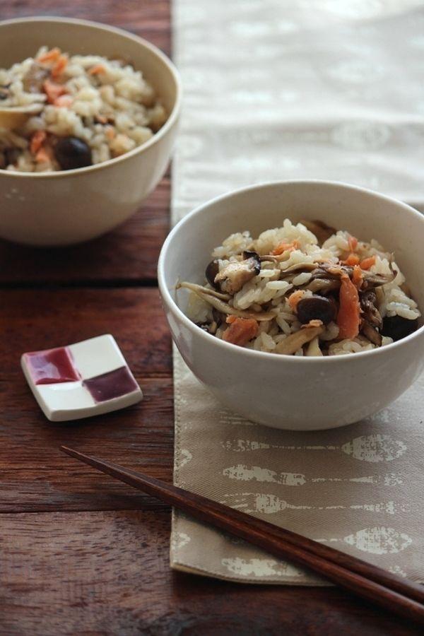 鮭きのこの燻製バター醤油混ぜご飯。 by 栁川かおり   レシピサイト ...