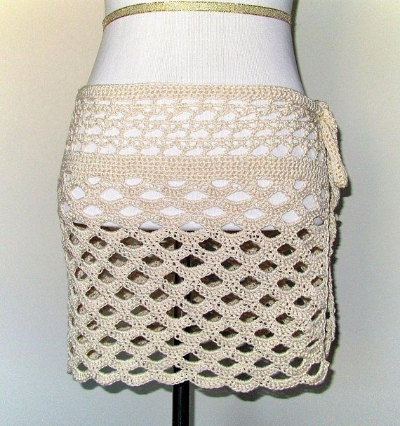 Pattern Only - Shell Crochet Beach Cover Up Sarong Pareo Crochet Pattern
