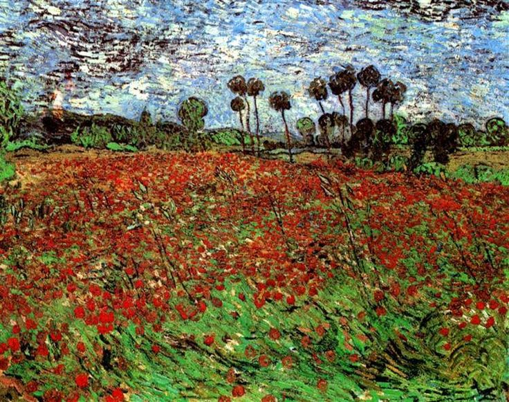 Vincent van Gogh: Field with Poppies, 1890