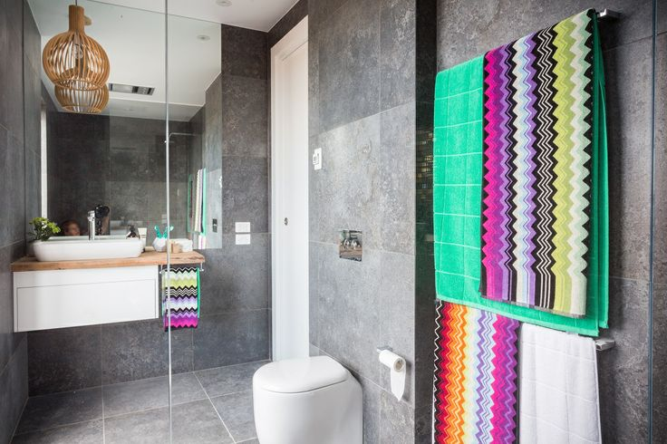 This stylish bathroom appeared on The Block Fans vs. Faves. It features the Excellence Black tile with the Cocktail Alexander Mosaic tile from Beaumont Tiles. #TheBlock