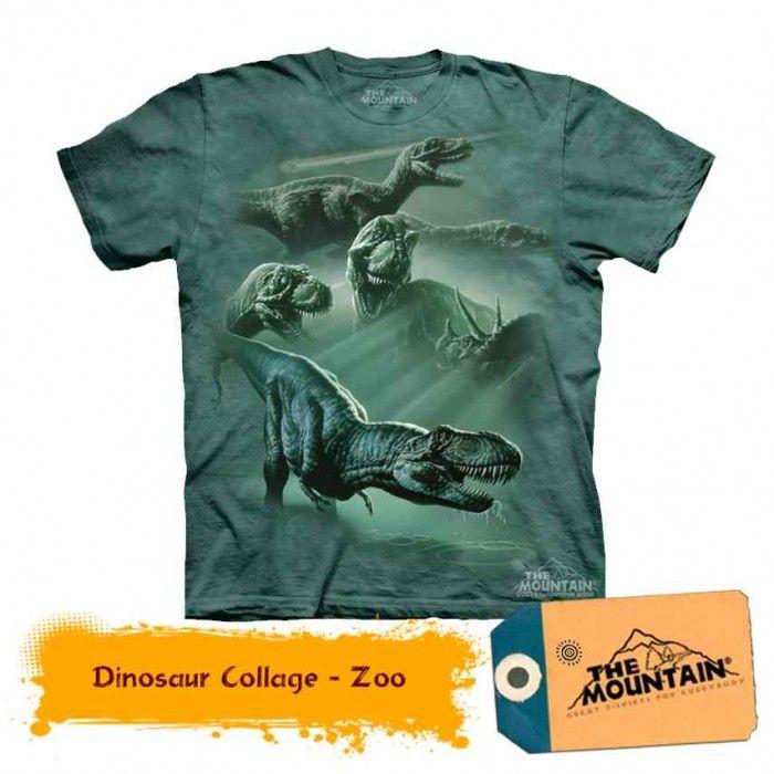 Tricouri The Mountain – Tricou Dinosaur Collage