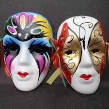 Resultado de imagen para mascaras de yeso de colores