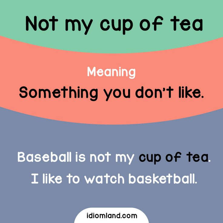 What's your cup of tea? #idioms #english #learnenglish