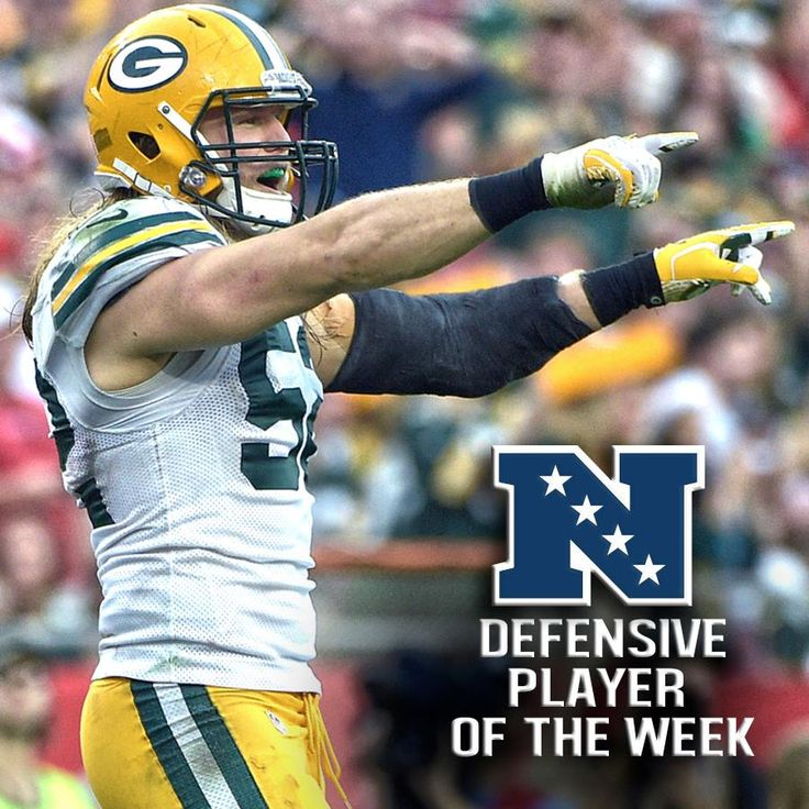 Congrats to Packers LB Clay Matthews on being named NFC Defensive Player of the Week for Week 16
