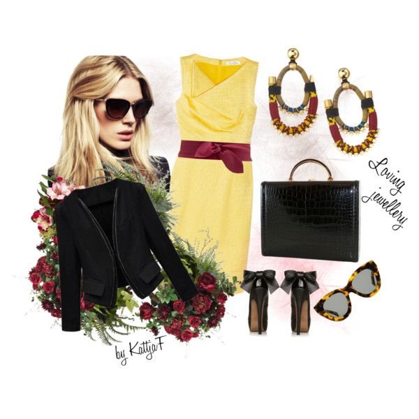 """""""Buisness meeting? Just stay chic with ethnical earrings!"""" by kattjaf on Polyvore"""