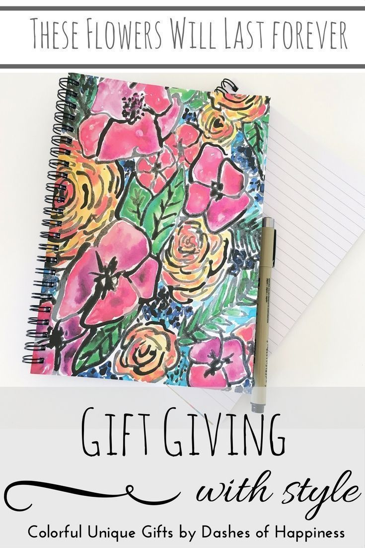 Perfect Spring notebook for gardening or gifting- and these flowers will last forever.