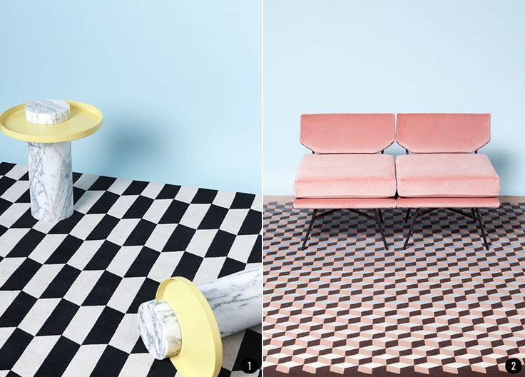 Decorar con textiles: las alfombras de cc-tapis | conkansei.com