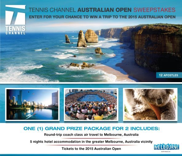 Win a Trip to the 2015 Australian Open Sweepstakes ::Tennis Channel