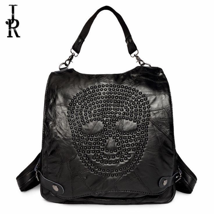 51.17$  Buy here - Fashion Backpacks Women sheepskin Leather School Bag Girls Female black Travel Shoulder Bags casual Waterproof Back Bags Mochila   #magazineonlinebeautiful