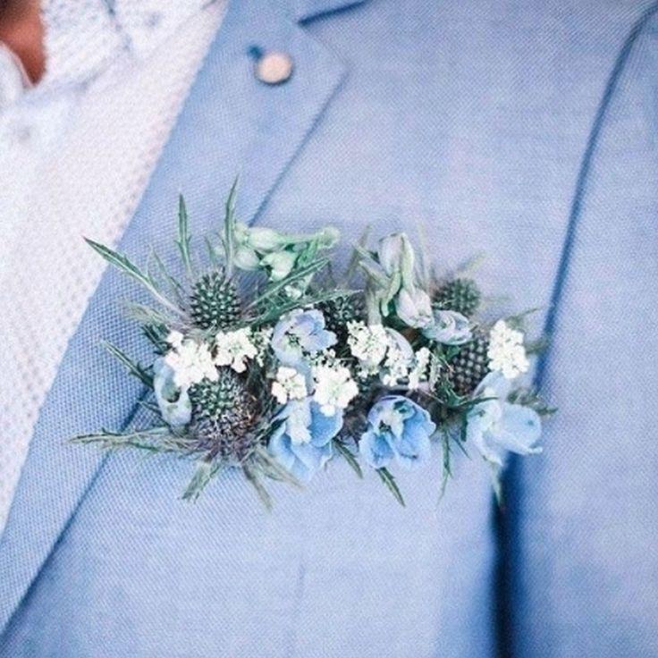 Powder blue linen suit and a horizontal boutonnière, this guy is the epitome of aisle style goals for the groom , don't ya think? Photo swiped from @lilymothdesign. #groom #boutonniere #wedding #weddingideas #weddingplanning #weddinginspiration #weddingflowers #weddingdetails #weddingstyle #weddinginspo #weddingdecor #weddingflowers #groomsman #groomsmen #bridalparty #style #weddingfashion #aislestyle #bluewedding #bride #bridetobe