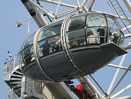 Take a ride on the London Eye, a giant Ferris wheel on the Thames, for an incredible view of London.