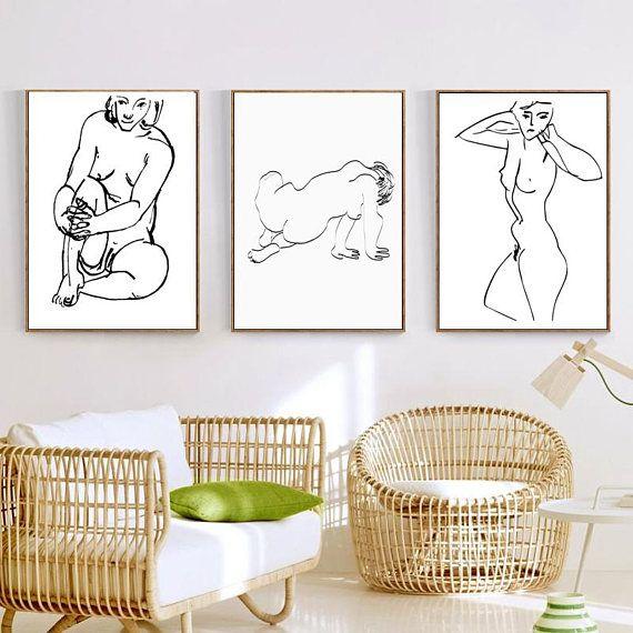 * Nude Prints Matisse Print Nude Poster Set 3 Prints Erotic Nudity Nude Art Modern Nude Matisse Poster Erotic Art Minimalist Nude Line Print * Welcome to my Instant download shop! https://www.etsy.com/shop/VividPictures?ref=hdr_shop_menu What you get: 3JPG File -------------