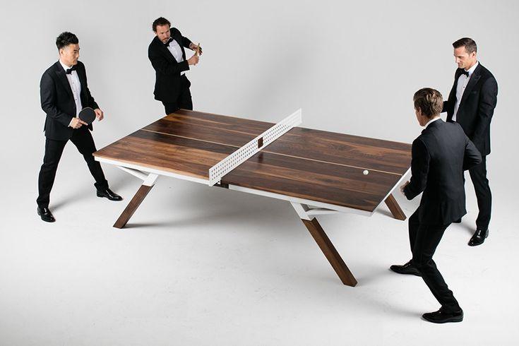 Let's Play – Dieses hölzerne Schmuckstück verwandelt sich vom Konferenztisch zur stylischen Tischtennisplatte