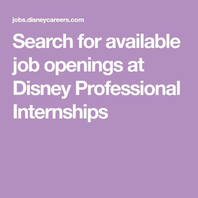 Search For Available Job Openings At Disney Professional -3306
