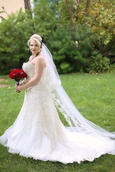 Airbrush makeup and vintage classic updo on bride Larissa