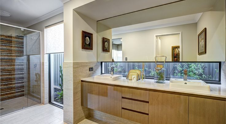 Master ensuite in the Australiana by Summit Homes. Discover more at https://www.summithomes.com.au/display-homes