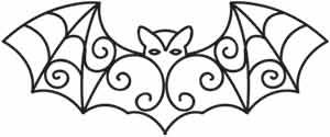 Gothic Lace Bat   Urban Threads: Unique and Awesome Embroidery Designs