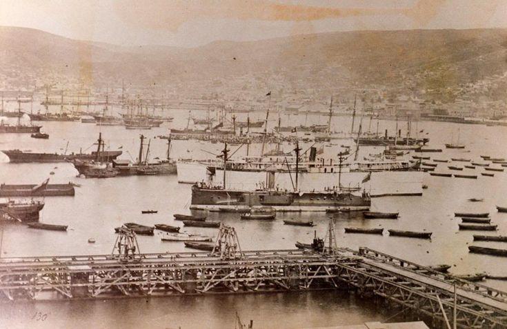 Llegada del Huascar a Valparaiso