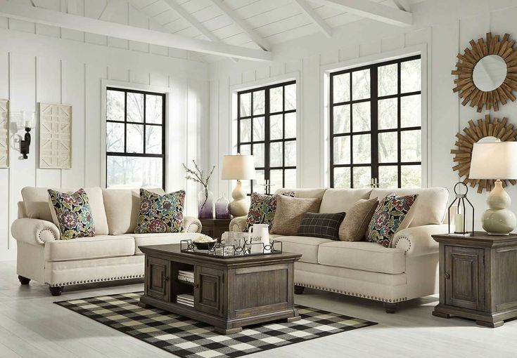 Best New Beige Chenille Fabric Living Room Furniture 2 Piece 400 x 300