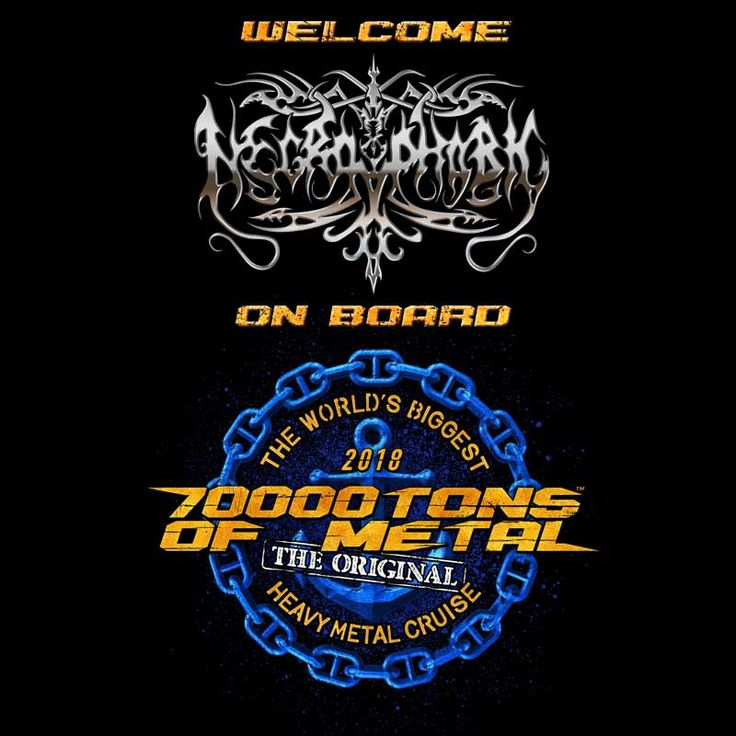 Swedish blackened death metal monsters #NECROPHOBIC partake in a Celebration of the Boat! This is 70000TONS OF METAL, The Original, The World's Biggest Heavy Metal Cruise. 5 days and 4 nights of the ultimate Heavy Metal vacation await you! #70000TONS