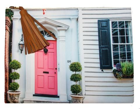 Beau & Ro Charleston Charleston Photo Collection | The South of Broad Pink Door CHARLESTON ON THE MIND,these clutches feature photographs by photographer Mary Beth Thomas