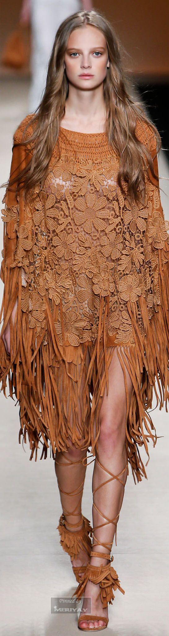 Alberta Ferretti.Spring-summer 2015. Boho dress. For more follow www.pinterest.com/ninayay and stay positively #inspired.