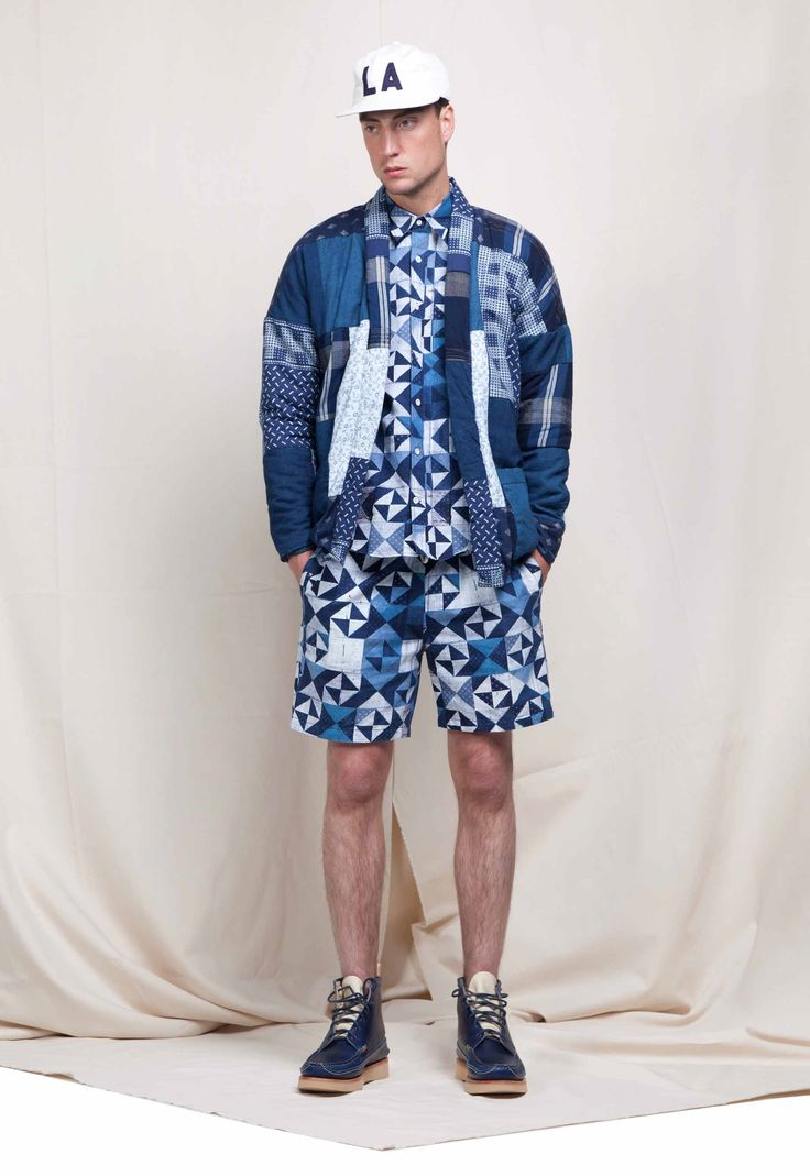 BLue Print Amsterdam  allover pattern _for Kings of Indigo , Jonathan - Men's Shorts | Kings of Indigo official online shop